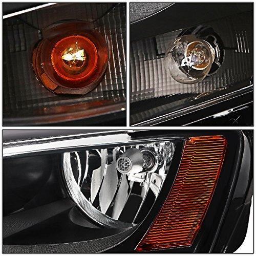 DNA Motoring HL-OH-FF12-BK-CL1 Headlight Driver /& Passenger Side