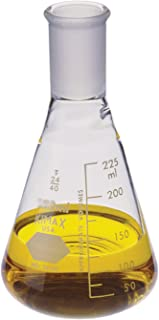 Kimble Glass Narrow Mouth Erlenmeyer Flask with 24/40 Standard Taper Joint, 2000mL Capacity