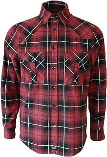 ROCK-IT Apparel® Camisa de Franela de Manga Larga para Hombres Camisa de leñador a Cuadros Fabricada en Europa Diversos Co...