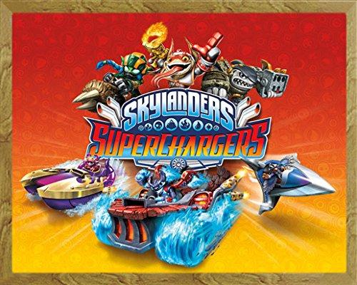 empireposter Skylanders - Superchargers Videospiel Mini Poster Plakat Druck - Grösse 50x40 cm + Wechselrahmen, Shinsuke® Mini MDF Eiche, Acryl-Scheibe