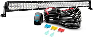 LED Light Bar Nilight 42 Inch 240W Spot Flood Combo Led Bar and 14AWG 5Pin Rocker Switch Wiring Harness Kit - One Lead ,2 Years Warranty