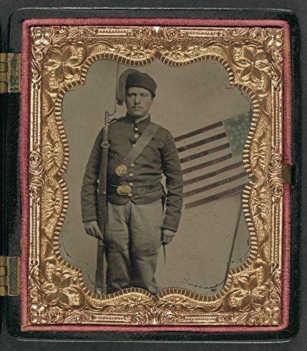 Price comparison product image INFINITE PHOTOGRAPHS Photo: American Civil War,  Unidentified Soldier,  Zouve Fez,  Bayoneted Musket