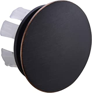 Orhemus Solid Brass Sink Overflow Cap Round Hole Cover for Bathroom Basin, Oil Rubbed Bronze Finished
