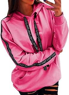 Womens Hoodies Plus Size Blouse Long Sleeve Solid Sweatshirt Hooded Pullover Tops Shirt