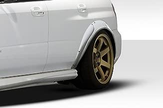 Extreme Dimensions Duraflex Replacement for 2004-2007 Subaru Impreza WRX STI Rally Rear Fender Flares - 4 Piece