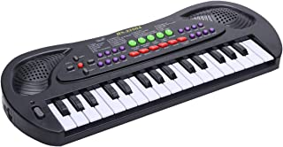 WITKA 32 Keys Kids Piano Multi-Function Electronic Keyboards with Microphone (Black)