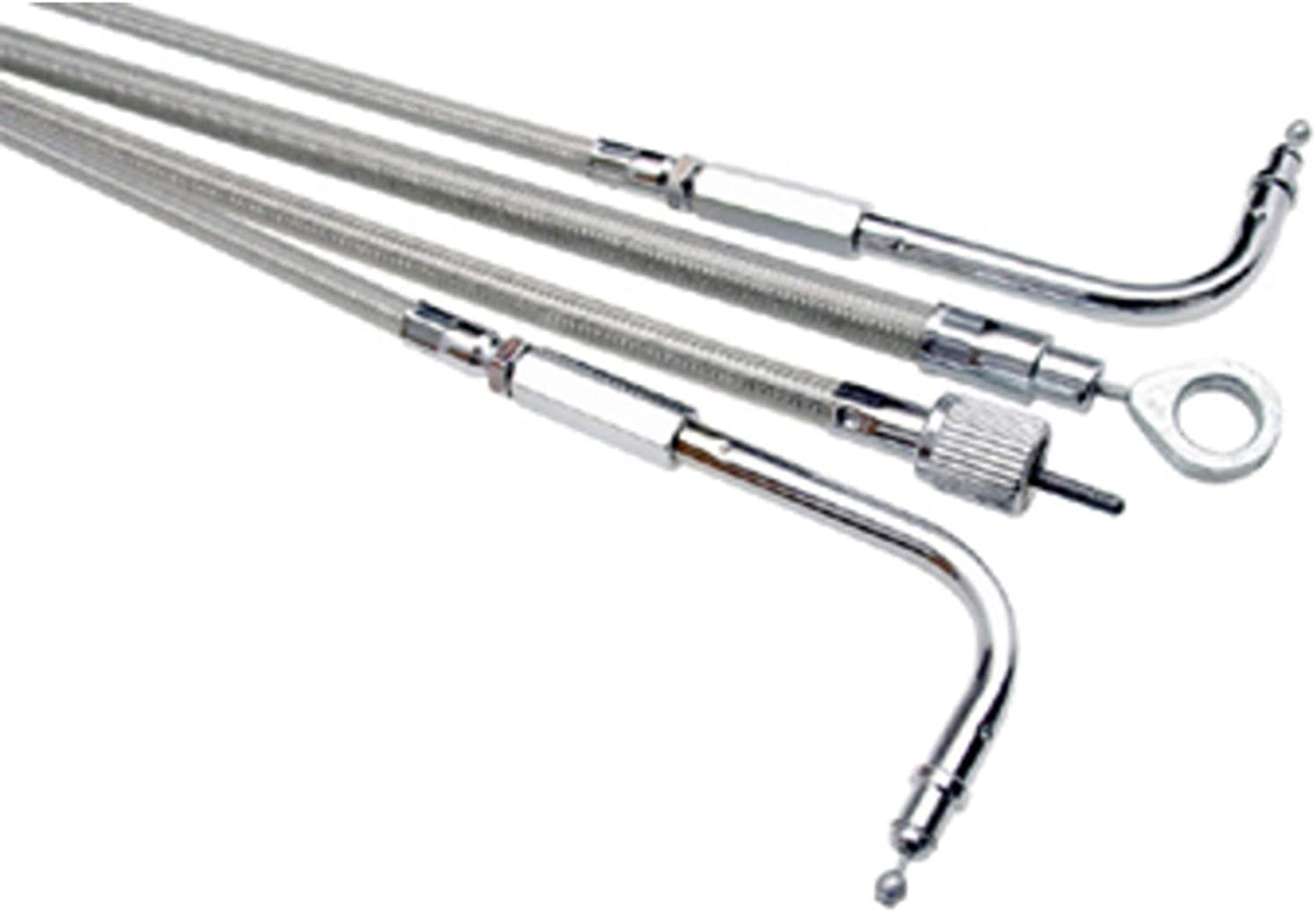 Armor Coat Max 84% OFF Stainless Steel Pull Fits Cable Throttle Harley Popularity 2009