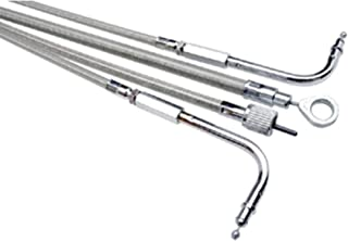 Armor Coat Stainless Steel Clutch Cable (+2in.) 2007 Yamaha XV1700PC Road Star Warrior Street Motorcycle