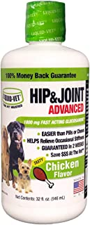 Liquid-Vet Advanced Hip & Joint Supplements for Dogs with Glucosamine + Chondroitin + MSM + Hyaluronic Acid | Dog Arthritis | Dog Pain Relief