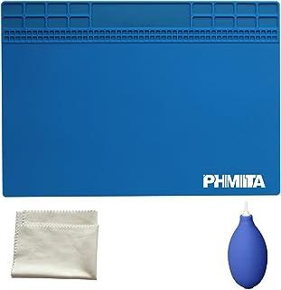 PHIMIITA Estera de Soldadura de MAT Silicone Solder Mat Magnetic Project Working Pad (35x25,