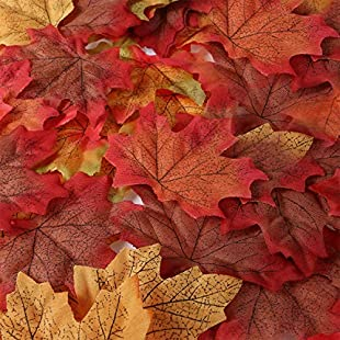 UNOMOR 190 Assorted Artificial Maple Leaves in 2 sizes with Multi-color for Thanksgiving Day & Wedding Decorations:Superhyipmonitor