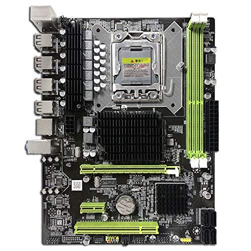 CNmuca Placa-mãe X58 PC Computador Desktop LGA1366 Interface CPU DDR3 MSATA V1.6 Placa principal Systemboard X5660 5670cpu preto