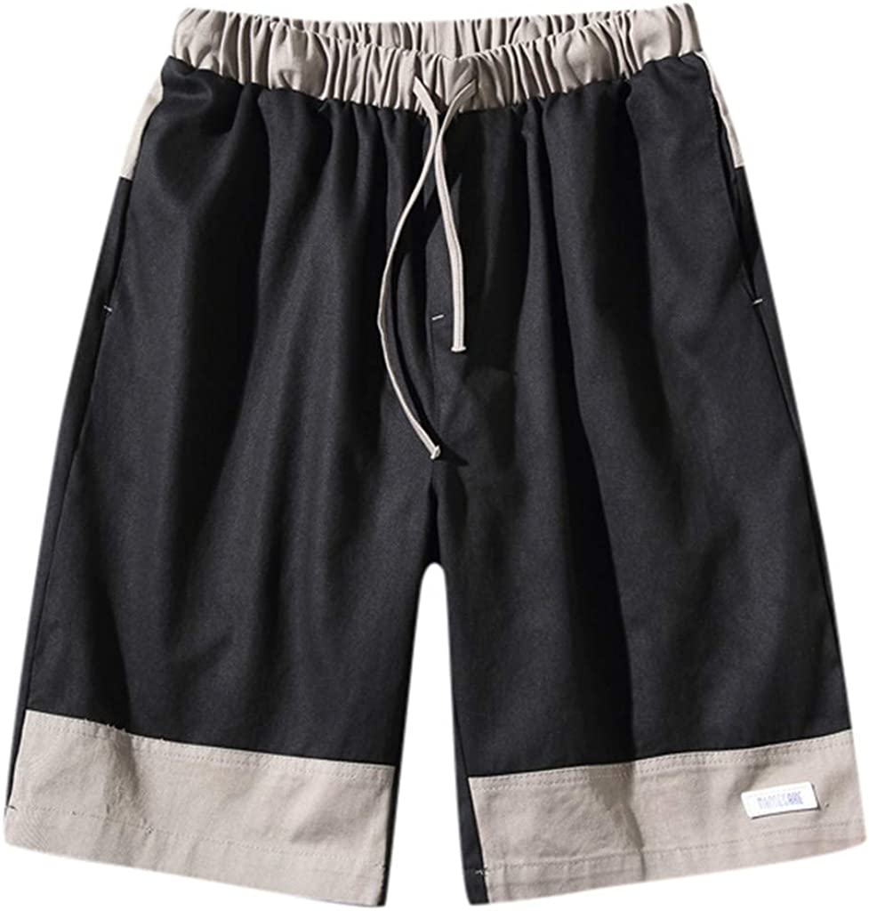 DIOMOR Mens Athletic Outdoor Drawstring Shorts with Pockets Relaxed Fit Beach Trunks Casual Fashion Knee Length Pants