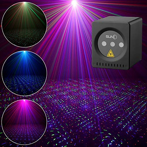 SUNY Mini Portable Cordless Laser Lights Rechargeable RGB Stars Patterns