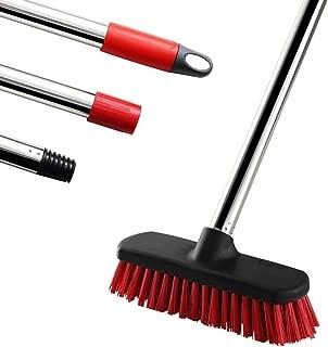 GeeRo Floor Scrub Brush with Adjustable Stainless Steel Long Handle - 47