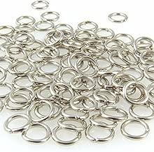 4 mm Z30 argento 50 anellini di congiunzione pieghevoli