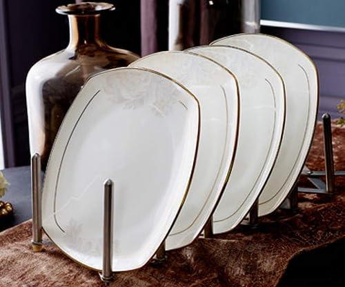 comprar nuevo barato BENJUN Plato de Carne Carne Carne de Porcelana Europea Plato de Filete de Cocina Occidental Plato de cerámica Creativo Plato de Desayuno Placa de Aperitivo  Envío 100% gratuito