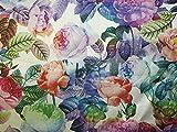 Kleiderstoff aus gewebtem Brokat, Blumenmuster,