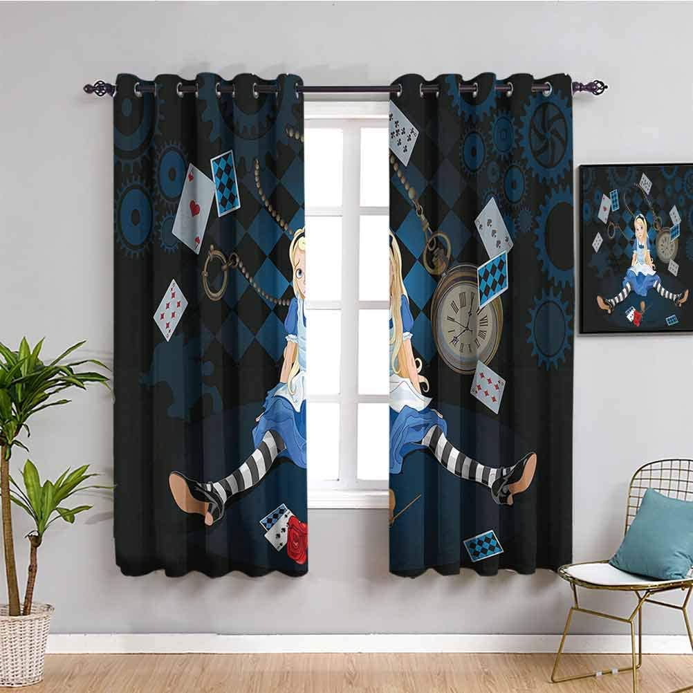 Alice in Wonderland Decorations Black for Curtains Bedroom Out G お洒落 !超美品再入荷品質至上!