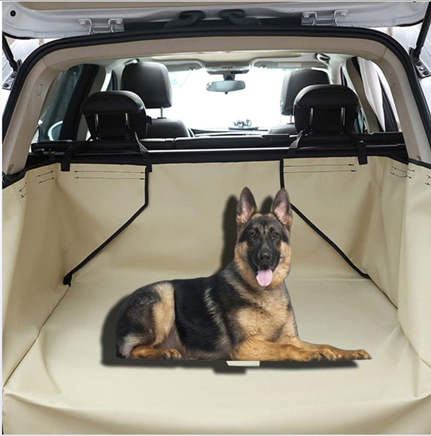 Dog Covers Back Seat Cars, Pet Dog Trunk Cargo Liner SUV Dog Car Pet Products,Congreenible Comfort Accessory for SUVs,Washable Pet Backseat Predector,Khaki