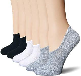 BERING Women's No Show Socks 6-9 Pairs Cotton Non Slip Flats Liner Vans