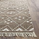 Safavieh Natürlicher Kelim-Teppich, NKM316, Flachgewebter Wolle Läufer, Braun / Elfenbein, 68 x 182 cm - 3