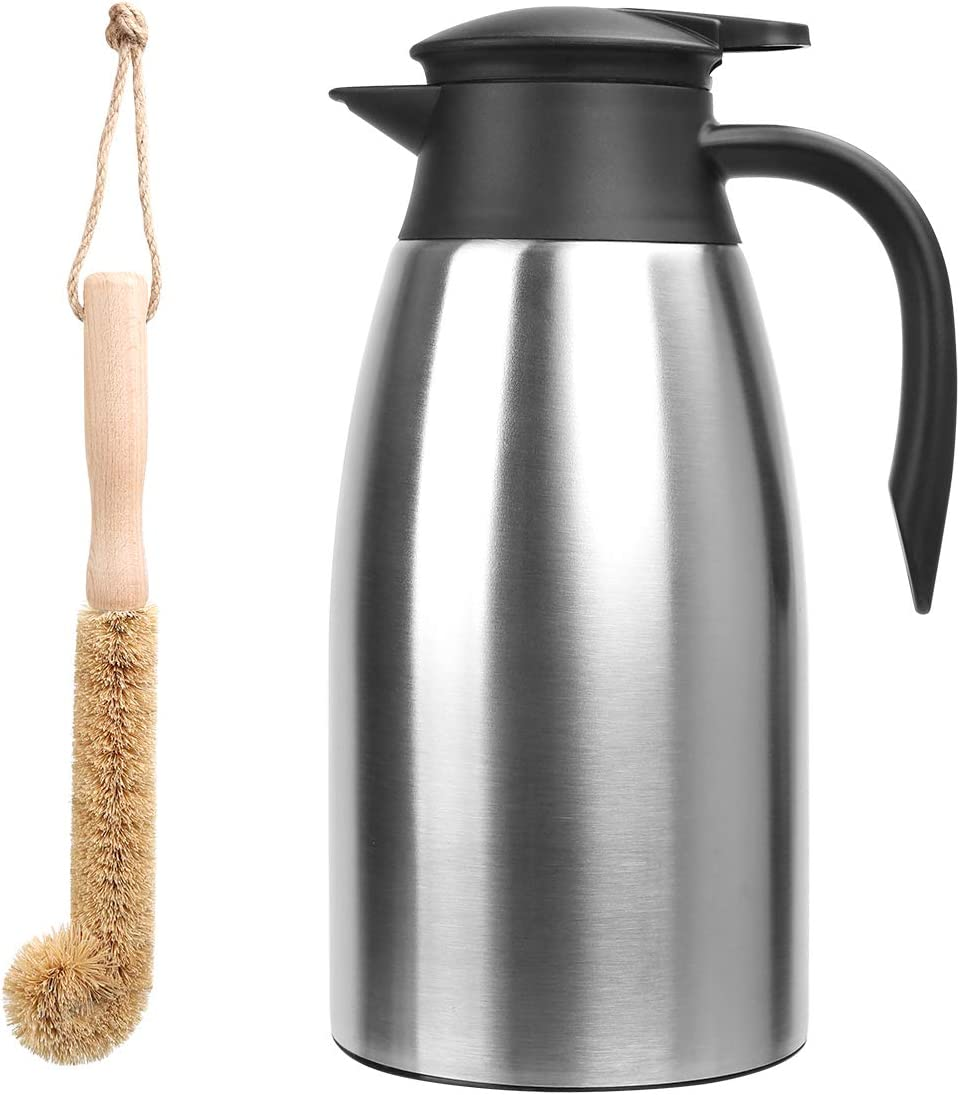 Thermal Coffee Max 76% OFF Carafe Stainless Steel 68oz Tucson Mall Double Wall 2 Lifter
