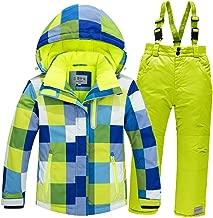 LSERVER Boy's Ski Jacket Pants Girls Windproof Snow Suit Waterproof 2-Piece Snowsuit