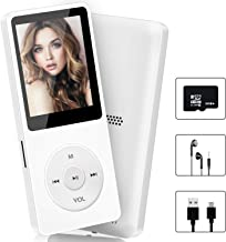 $25 » Aigital MP3/MP4 Player, Portable HiFi Lossless Sound MP3 Player with 32 GB Micro SD Card and Support Up to 128GB, Support Photo Viewer, Game/E-Book, Built in Speaker-White