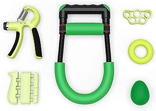 GGAI Hand Exerciser Grip Strength Trainer - Forearm - Finger Strengthener Workout Gripper Kit For Wrists - Fingers - Wrist Strengtheners,Grips For Therapy - Exercise - Hands Strengthening Equipment