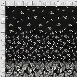 oneOone Jersey Di Viscosa Tessuto foglie e fiori Pannello Tessuto Cucito Al Metro Abbigliamento Fai Da Te Cucito Stampato 60 Largo Pollici