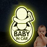 Etiquetas engomadas reflexivas del Coche del BEBÉ EN EL Coche, Pegatinas Reflectantes del Signo del Coche Parachoques para los nuevos Padres, reducen la Rabia del Camino y nuevos Accidentes del