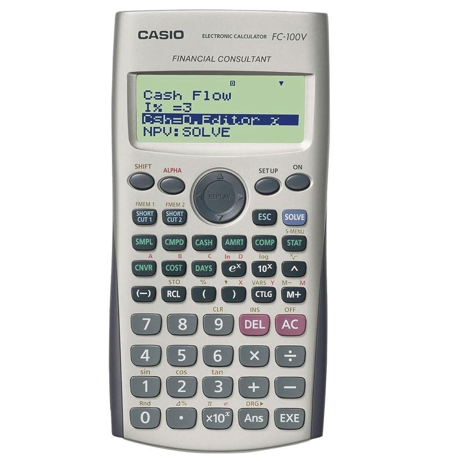 意図的バスケットボールに向かってCASIO FC-100V 金融電卓 FC100V [並行輸入品]