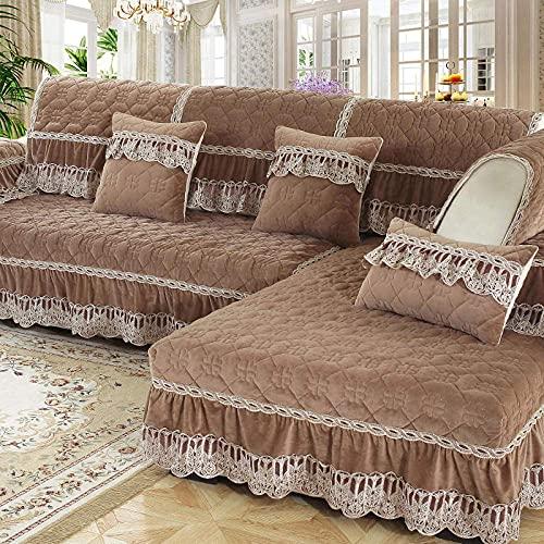 L.TSA Pets - Funda para sofá, Protector de sofá Acolchado, Funda de Felpa para sofá Four Seasons, Toalla para sofá, Moderna, Antideslizante, para sofá Cama, I_90x90cm, Funda de Tela elástica para