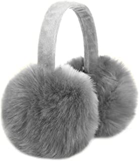 Sudawave Women Girls Winter Warm Ultra Soft Faux Fur Plush Earmuffs Ear Warmer Foldable