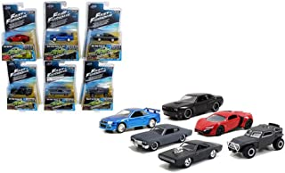 Fast & Furious Build N Collect Wave 3, 6pc Diecast Car Set IN BLISTER PACKS 1/55 by Jada