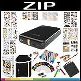 Polaroid ZIP Mobile Printer Gift Bundle + ZINK Paper (20 Sheets) + 9 Unique Colorful Sticker Sets + Pouch + Twin Tip Markers + Hanging Frames + Photo Album + Accessories