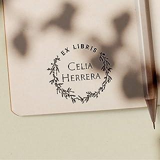 Sello Ex Libris Personalizado de Madera para Libros, 4 Diseños Disponibles, Sello Libros