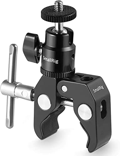 SMALLRIG Super Clamp Mount with Ball Head Mount Hot Shoe Adapter and Cool Clamp - 1124