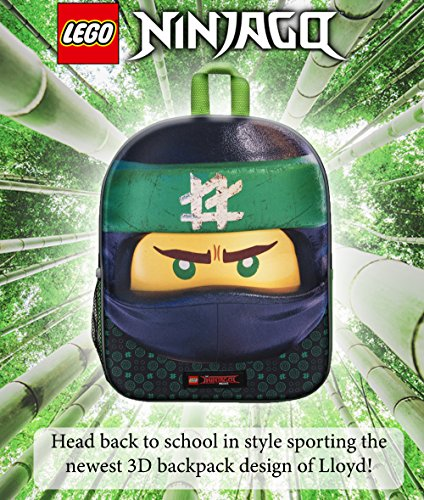 61MbVRzAU6L - Mochila 3D Lego Ninjago Green Ninja para Niños Escuela Viaje