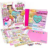 Just My Style Ultimate Scrapbook by Horizon Group USA,Personalize & Decorate Your DIY Scrapbook with Stickers,Sequins,Gemstones & More.40-Page Hardcover Scrapbook,Pen,Scissors & Glue Stick Included , Beige