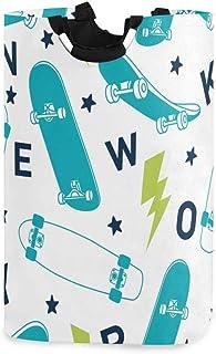 ZOMOY Grand Organiser Paniers pour Vêtements Stockage,New Yorkcity Skater,Panier à Linge en Tissu,Imperméable,Pliable,paniers