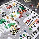 HMBBDT Teppich, Krabbeldecke Fürs Kind, Spielmatte/Baby-Krabbelteppich/Wohnzimmer-Bodenmatte/Kinderteppich Straßenteppich Spielunterlage Kinderzimmer - 6