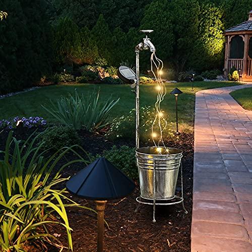 MINGRT Lámparas Solares para Jardín, Farolillos de Exterior Luz Hadas, Star Shower Garden Art Grifo Con Luces, Decoración Lámpara LED Para Fiestas,Jardines,Pasarelas de Patio