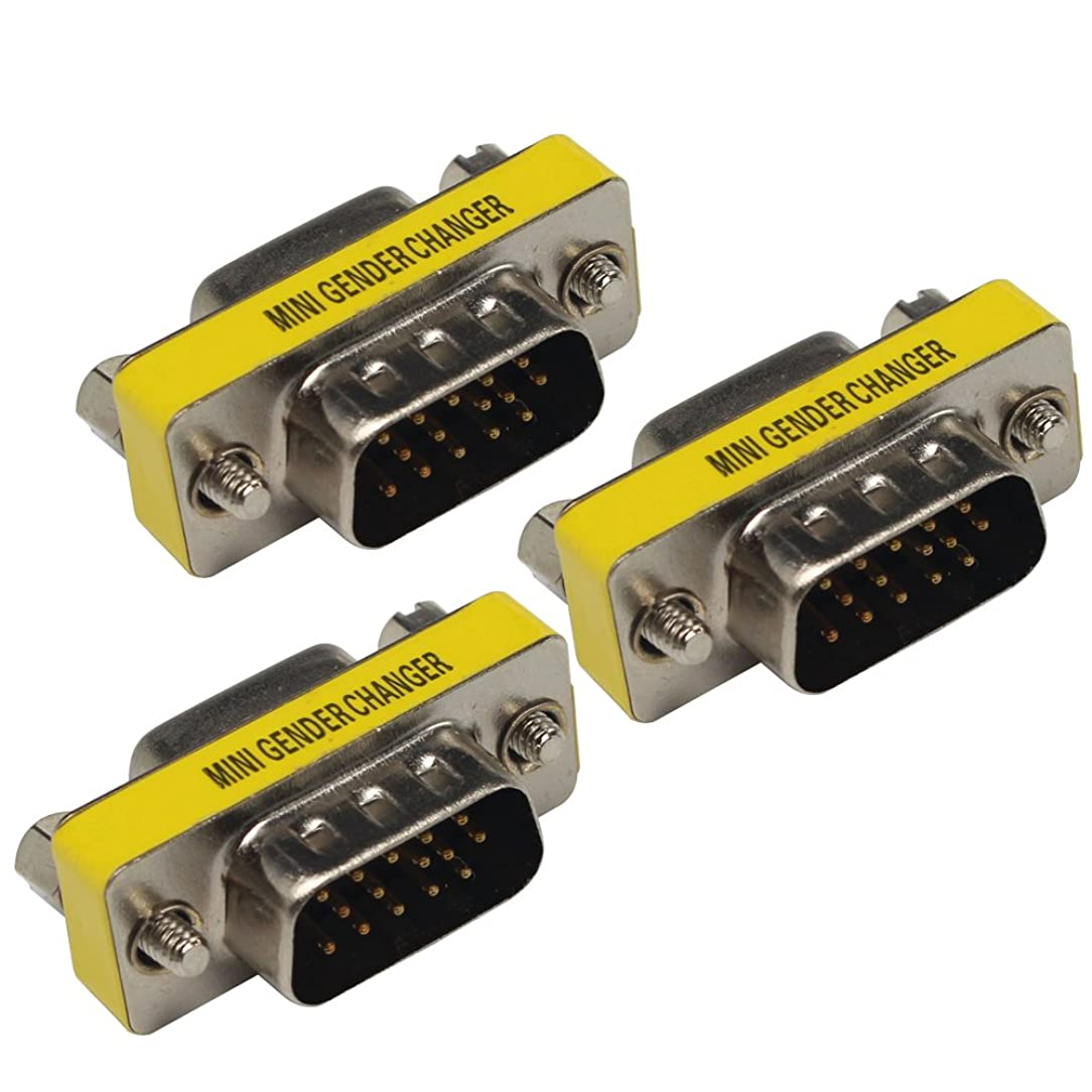VGA Male to Female Connector Coupler Pack of 3
