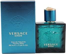 Versace Eros Eau de Toilette Spray for Men, 1.7 Ounce