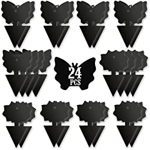 USKICH Sticky Trap Fruit Fly and Gnat Trap Sticky Bug Traps Fungus Traps for Indoor/Outdoor Insect Catcher for White Flies,Mosquitoes,Fungus Gnats,Lying Insects (24 Pcs Black )