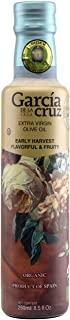 Garcia de la Cruz Early Harvest Organic Extra Virgin Olive Oil - Award-Winning from Toledo Spain - Glass 8.5 fl. oz. (250 ml)