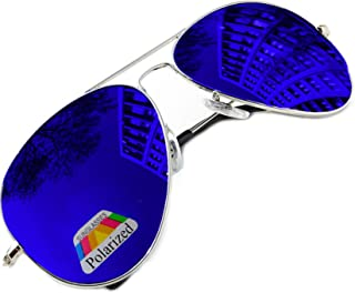 MFAZ Morefaz Ltd - Vintage Retro Original Piloto Espejo Lente Polarizado Gafas de sol Gafas de sol Fuerza Aérea Unisex Vintage lente UV400 MFAZ Morefaz Ltd
