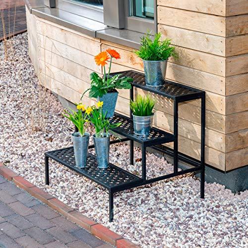Rekord Blumentreppe - gerade (Stahl) | Blumentreppe, Pflanzentreppe